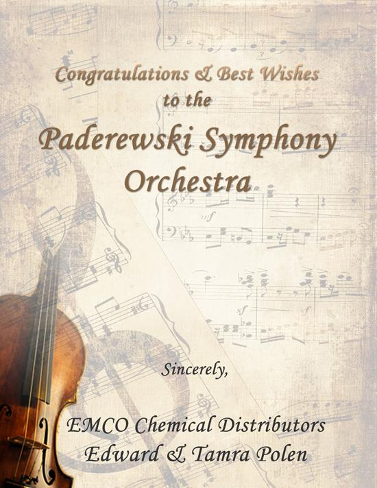 Paderewski Symphony Orchestra   Official Website